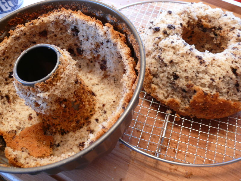 Schokoladennapfkuchen, misslungen
