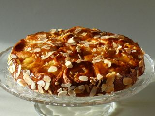 Aprikosen-Rosenkuchen, komplett2