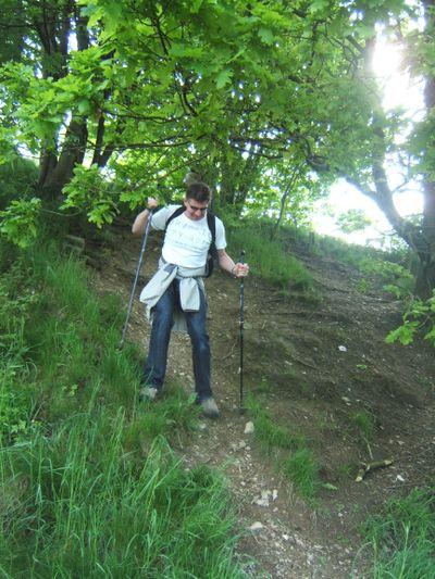 Jörg beim Abstieg