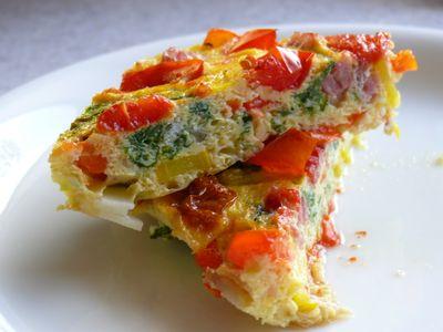 Mangold-Frittata, portioniert