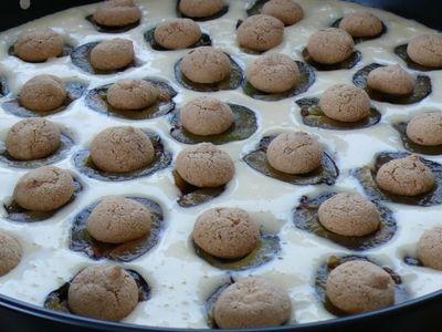 Eierlikör-Zwetschgenkuchen, vorher