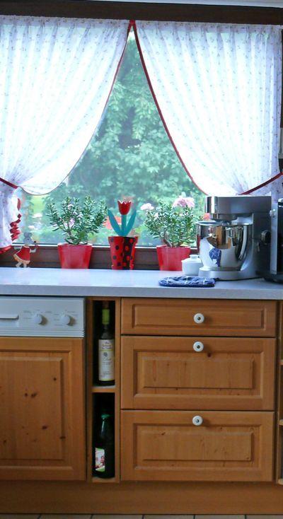 Landhausgardine, Küche vorne raus