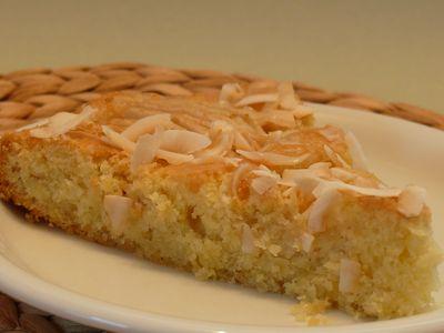Versunkener Apfel-Kokos-Kuchen, Anschnitt (M)