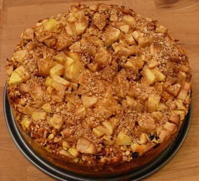 Rigaer Apfel-Käsekuchen, Anschnitt, hinten