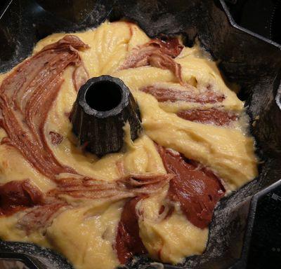 Marmorkuchen auf Stiel