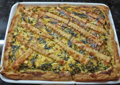 Quiche mit Mangold und Tomaten - Stück