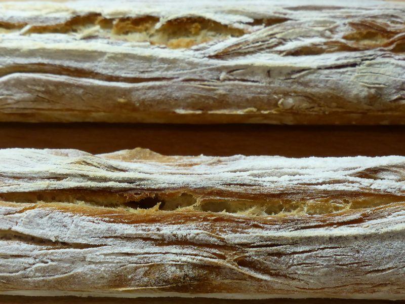 Baguette Seite an Seite